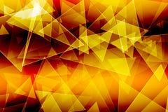 Κίτρινο χρυσό υπόβαθρο τριγώνων Απεικόνιση αποθεμάτων