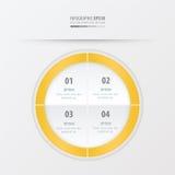 Κίτρινο χρώμα προτύπων παρουσίασης κύκλων Στοκ Φωτογραφίες