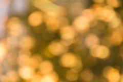 Κίτρινο bokeh Στοκ Εικόνα