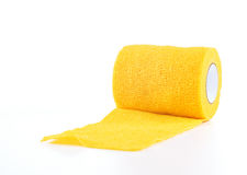 Κίτρινο Coban, περικάλυμμα επιδέσμων Στοκ φωτογραφίες με δικαίωμα ελεύθερης χρήσης