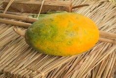 Κίτρινο papaya Στοκ Εικόνα