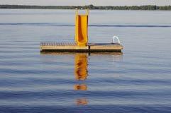 Κίτρινο waterslide Στοκ Εικόνα