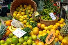 Κίτρο λεμονιών στην επίδειξη στην αγορά δήμων Στοκ Φωτογραφίες