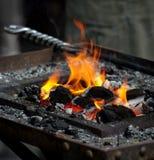 καίγοντας άνθρακες Στοκ εικόνες με δικαίωμα ελεύθερης χρήσης