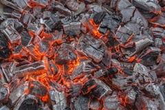 καίγοντας άνθρακες στοκ εικόνα με δικαίωμα ελεύθερης χρήσης