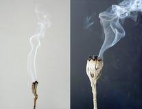 Καίγοντας άσπρη φασκομηλιά Στοκ εικόνα με δικαίωμα ελεύθερης χρήσης
