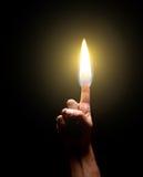 Καίγοντας δάχτυλο Στοκ Φωτογραφία