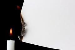 καίγοντας έγγραφο Στοκ Φωτογραφία