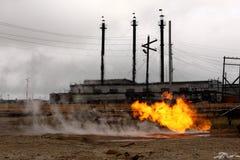 καίγοντας αέριο Στοκ Φωτογραφία