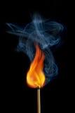 Καίγοντας αντιστοιχία Στοκ εικόνες με δικαίωμα ελεύθερης χρήσης
