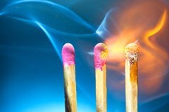 καίγοντας αντιστοιχίες Στοκ εικόνα με δικαίωμα ελεύθερης χρήσης