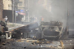 καίγοντας αυτοκίνητο Στοκ εικόνες με δικαίωμα ελεύθερης χρήσης