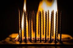 Καίγοντας βίδες Στοκ φωτογραφία με δικαίωμα ελεύθερης χρήσης