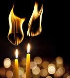 καίγοντας βαλεντίνοι αγ Στοκ Εικόνα