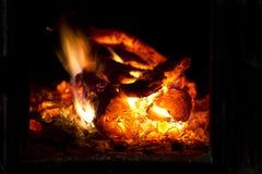 Καίγοντας δάσος. Στοκ Εικόνες