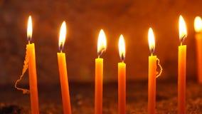 καίγοντας εκκλησία dof κεριών ρηχή φιλμ μικρού μήκους