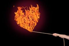 Καίγοντας καρδιά πυρκαγιάς Στοκ Φωτογραφία