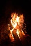 καίγοντας καυσόξυλο στοκ εικόνα με δικαίωμα ελεύθερης χρήσης
