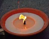 Καίγοντας κερί κεριών Στοκ Εικόνα