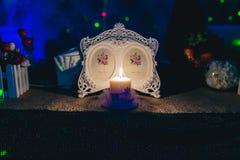 Καίγοντας κερί στο εστιατόριο Στοκ φωτογραφία με δικαίωμα ελεύθερης χρήσης