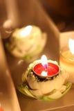 Καίγοντας κερί στο λωτό Στοκ εικόνες με δικαίωμα ελεύθερης χρήσης