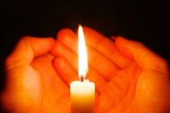 καίγοντας κερί Στοκ Εικόνα