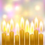 Καίγοντας κεριά Στοκ εικόνες με δικαίωμα ελεύθερης χρήσης