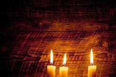 καίγοντας κεριά τρία Στοκ Φωτογραφίες