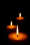 καίγοντας κεριά τρία Στοκ εικόνα με δικαίωμα ελεύθερης χρήσης