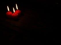 καίγοντας κεριά τρία Στοκ Φωτογραφία