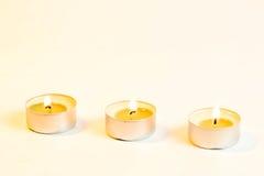 καίγοντας κεριά τρία Στοκ εικόνες με δικαίωμα ελεύθερης χρήσης