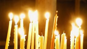 καίγοντας κεριά απόθεμα βίντεο