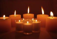 καίγοντας κεριά Στοκ φωτογραφία με δικαίωμα ελεύθερης χρήσης