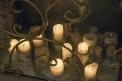 καίγοντας κεριά Στοκ Εικόνες