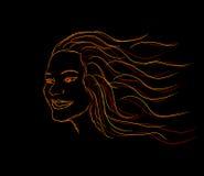 καίγοντας κορίτσι Στοκ εικόνες με δικαίωμα ελεύθερης χρήσης