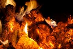 καίγοντας κούτσουρα Στοκ Φωτογραφία
