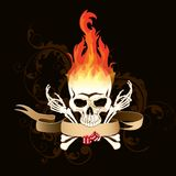 καίγοντας κρανίο Στοκ Εικόνες