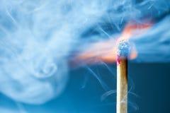 καίγοντας μακρο αντιστ&omicro Στοκ Εικόνες