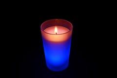 Καίγοντας μπλε κερί Στοκ εικόνα με δικαίωμα ελεύθερης χρήσης