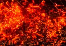 καίγοντας ξυλάνθρακας &alpha Στοκ Φωτογραφίες