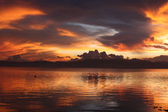 καίγοντας ουρανός Στοκ φωτογραφίες με δικαίωμα ελεύθερης χρήσης