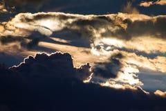 Καίγοντας ουρανός Στοκ φωτογραφία με δικαίωμα ελεύθερης χρήσης