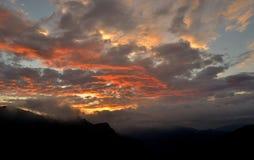 καίγοντας ουρανός Στοκ Εικόνες