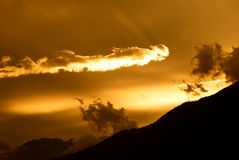 καίγοντας ουρανός Στοκ Φωτογραφίες