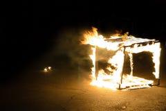 καίγοντας πάγος κύβων Στοκ εικόνες με δικαίωμα ελεύθερης χρήσης