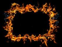 καίγοντας πλαίσιο Στοκ Φωτογραφία