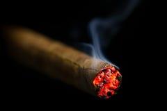 Καίγοντας πούρο στοκ φωτογραφίες