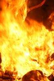 καίγοντας πυρκαγιά Βαλέν Στοκ Εικόνες