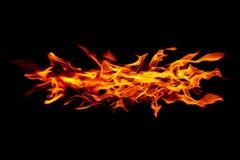 καίγοντας πυρκαγιά που απομονώνεται στο Μαύρο Στοκ φωτογραφία με δικαίωμα ελεύθερης χρήσης