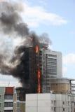 καίγοντας σπίτι Στοκ Φωτογραφίες